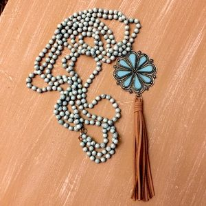 Jewelry - Turquoise Necklace with Tassel